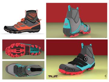 Mountain biking footwear for Enduro racers during transitioning shoulder seasons.