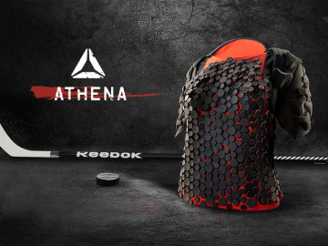 Female hockey players favor men's shoulder pads over women's due to poor fit and lack of protection. Athena offers a new way for shoulder pads to conform and flex with the body, enhancing maneuverability and comfort.